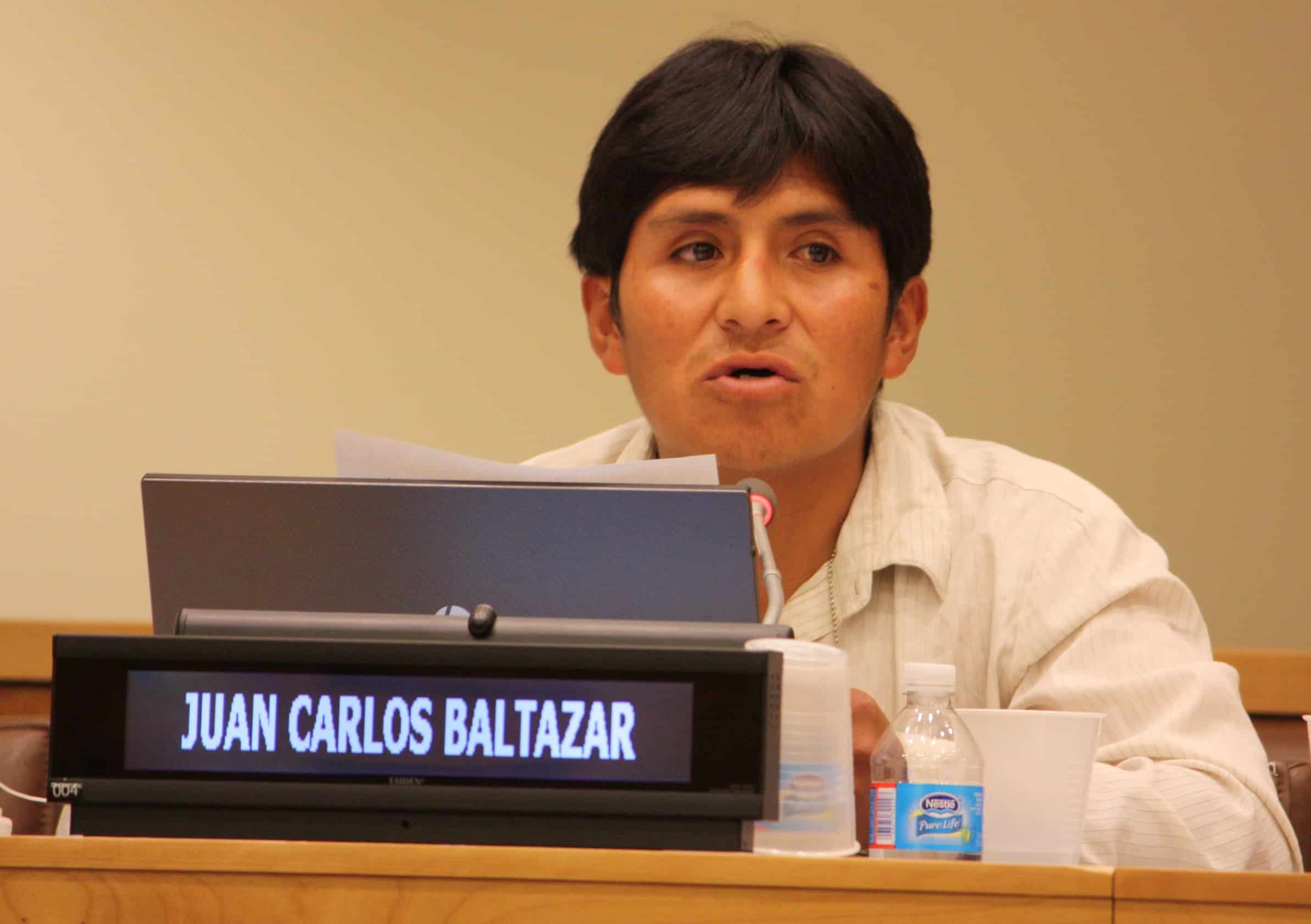 Seminar participant speaks at the UN.